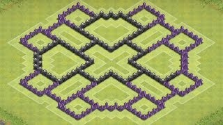 getlinkyoutube.com-Clash Of Clans - TH8 FARMING Base BEST Town Hall 8 Defense Strategy Dark Elixir Spell Factory Update