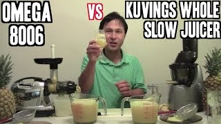 getlinkyoutube.com-Kuvings Whole Slow Juicer vs 8006 Juice Off Comparison Review
