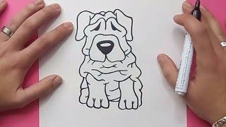 getlinkyoutube.com-Como dibujar un perro paso a paso 36 | How to draw a dog 36