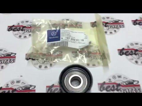 Расположение в Mercedes Р натяжного ролика ремня генератора