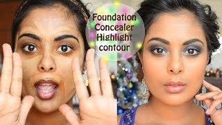 getlinkyoutube.com-Camera Ready Foundation, Concealer, Contouring, Color Correction tutorial