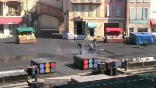 "getlinkyoutube.com-Disneyland Paris 2/10 - Attraction cascades ""Moteurs Action"""