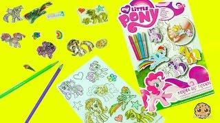 getlinkyoutube.com-My Little Pony Rainbow Dash, Pinkie Pie, Twilight, MLP Shrinky Drink Art Maker Shrink in Oven
