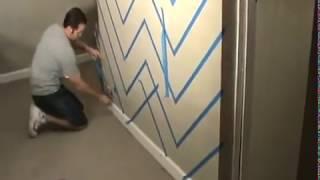 getlinkyoutube.com-Cara membuat garis grafis Chevron zig zag di dinding rumah  Phiil Menendez