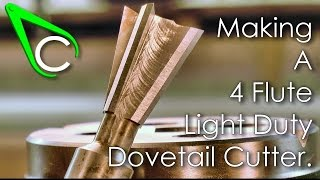 getlinkyoutube.com-Spare Parts #11 - Making A 4 Flute Light Duty Dovetail Cutter