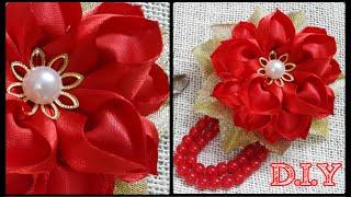 getlinkyoutube.com-D.I.Y. Heart Shaped Petal Kanzashi Valentine's Day Flower   MyInDulzens