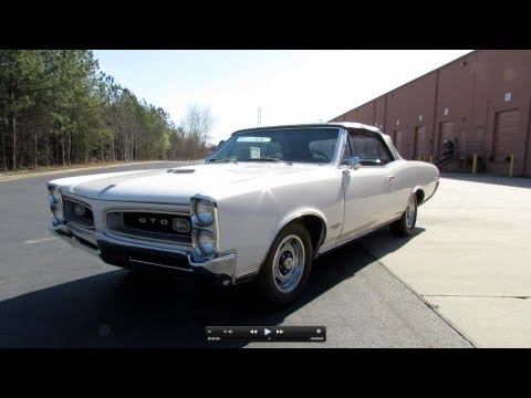 1966 Pontiac GTO 389 Tri-Power 4-spd Convertible Start Up, Exhaust, and In Depth Review