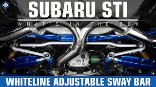 getlinkyoutube.com-Whiteline 24mm Adjustable Rear Sway Bar - 2015 Subaru WRX STI Install/Review