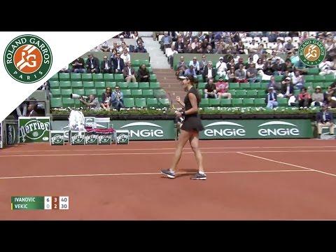 A. Ivanovic v. D.Vekic 2015 French Open Women`s Highlights / R32