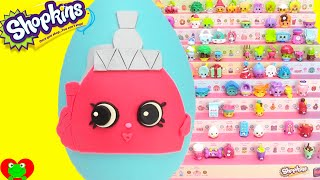 getlinkyoutube.com-Shopkins Season 4 Pretty Puff Play Doh Surprise Egg Limited Edition Hunt