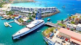 "getlinkyoutube.com-Steve Job's MEGAYACHT ""VENUS"" ~ FULL 360 Aerial View ~ Simpson Bay Bridge, St Maarten, SXM"