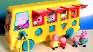 Pig George Volta às Aulas com a Peppa Pig no novo Ônibus Escolar 2017 Brinquedos Play Doh
