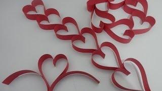 getlinkyoutube.com-Tirinha/ cortininha de corações de papel - Tutorial