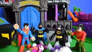 getlinkyoutube.com-Imaginext Batman Episode Gotham City Jail Joker Superman Children's Story.