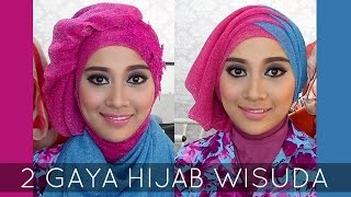 getlinkyoutube.com-Tutorial Hijab Wisuda | 2 Hijabstyle dengan Hijab Savanna Mecca Glitty | #2