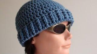 getlinkyoutube.com-Mens Crochet Beanie - Mens Crochet Beanie Hat
