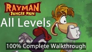 Rayman Jungle Run - All Levels 100% Complete Walkthrough w/ Bonus Secret Levels | WikiGameGuides