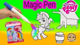 getlinkyoutube.com-My Little Pony Imagine Ink Rainbow Color Pen Art Book with Surprise Pictures Cookieswirlc Video