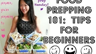 FOOD PREPPING 101:  Tips for beginners (How to start food prepping for the first time)