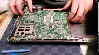 getlinkyoutube.com-HP Pavillon DV5 smontaggio e reflow chip video GPU integrale