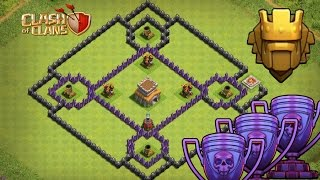 COC TH8 WAR BASE + AIR SWEEPER / TOWN HALL 8 DEFENCE ANTI DRAGON, ANTI HOGS 2016