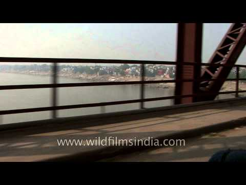 Driving through Malviya Bridge, Varanasi