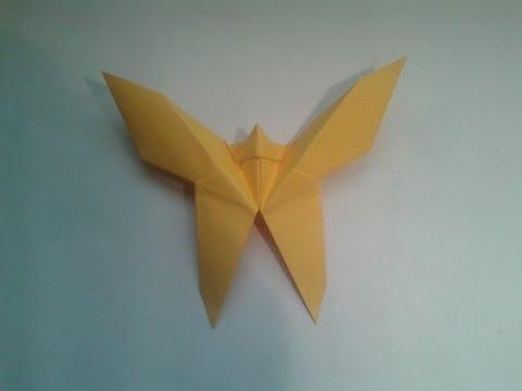 Como hacer una mariposa de origami facil
