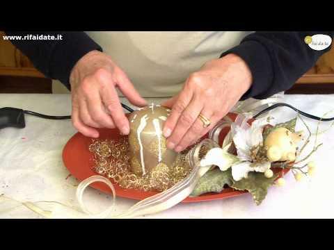 Come creare un centrotavola natalizio fai da te mania - Bicchieri decorati per natale ...