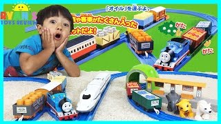 getlinkyoutube.com-THOMAS AND FRIENDS Toy Trains for kids Tomy Takara Japanese Thomas Tomica Shinkansen Bullet Train