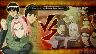 getlinkyoutube.com-Naruto Ultimate Ninja Storm 3 Sakura Lee and Guy Vs The Seven Swordsmen S-Rank Hero (English)