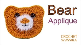 getlinkyoutube.com-How to crochet bear applique How to crochet a circle for beginners(DC) free pattern tutorial