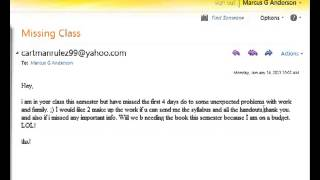 Bad Email Reply - What not to say to your professor... - YouTube