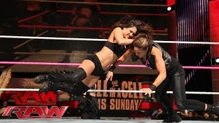 getlinkyoutube.com-The Bella Twins vs. AJ Lee & Tamina: Raw, Oct. 21, 2013