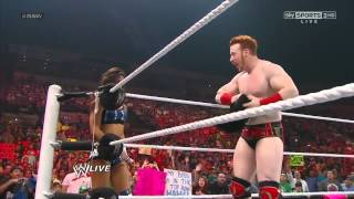 getlinkyoutube.com-Sheamus & AJ vs Dolph Ziggler & Vickie Guerrero WWE Raw 7/2/12