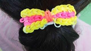 getlinkyoutube.com-Rainbow Loom رينبولوم فيونكة مع توكة للشعر