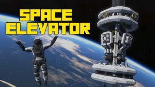 Space Engineers: Self Building Space Elevator, 3D Printing, (Outdated)