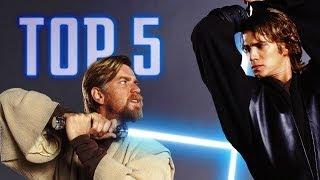 getlinkyoutube.com-TOP 5 Star Wars Lightsaber Battles | Analyse des combats !
