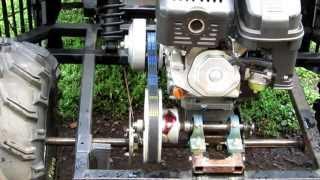 batmobile go kart jackshaft and torque converter