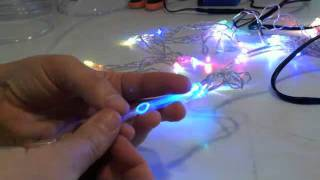 getlinkyoutube.com-How to attach fiber optic filament to an LED