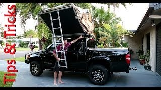 getlinkyoutube.com-ARB - ROOF TOP TENT, Tips & tricks on how to put up your tent top