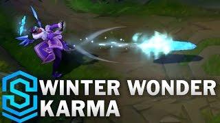 getlinkyoutube.com-Winter Wonder Karma Skin Spotlight - League of Legends