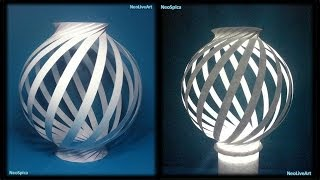 getlinkyoutube.com-Paper Lamp Ball Twist Spiral 1
