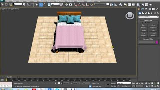 getlinkyoutube.com-Autodesk 3dsmax 2012 Tutorial Bed Pillows Blanket Modeling with cloth &Texturing