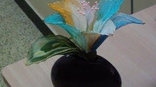 getlinkyoutube.com-Stocking flower tutorial 1