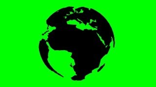 getlinkyoutube.com-rotating 3D earth model - green screen effect