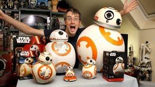 getlinkyoutube.com-XRobots - Star Wars BB-8 BIG Toy unboxing review & comparison, Sphero, Bladez, Hasbro