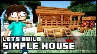 getlinkyoutube.com-Minecraft: How To Build a Simple Starter House