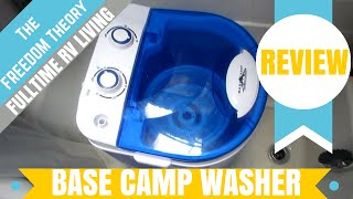 getlinkyoutube.com-BASE CAMP PORTABLE WASHING MACHINE AND SPINNER REVIEW | The Freedom Theory