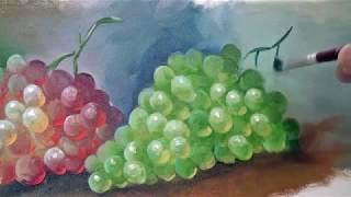 getlinkyoutube.com-رسم العنب بالالوان الزيتية..روعة ♥