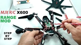 getlinkyoutube.com-MJX X600 Mini HexaCopter Range Mod - Double Stock Range Tutorial - Step by Step
